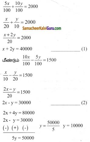 Samacheer Kalvi 9th Maths Guide Chapter 3 இயற்கணிதம் Ex 3.14 5