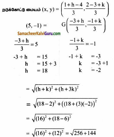 Samacheer Kalvi 9th Maths Guide Chapter 5 ஆயத்தொலை வடிவியல் Ex 5.5 2