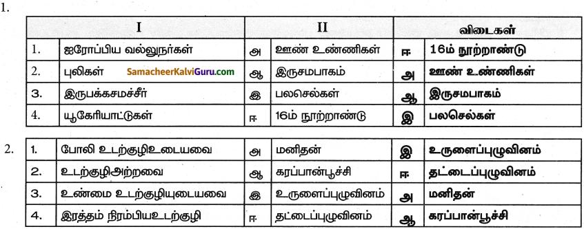 Samacheer Kalvi 9th Science Guide Chapter 17 விலங்குலகம் 7