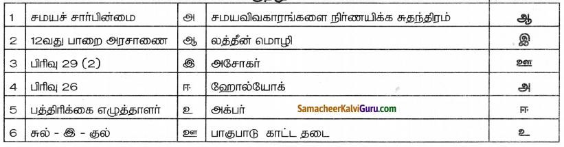 Samacheer Kalvi 8th Social Science Guide Civics Chapter 3 சமயச்சார்பின்மையைப் புரிந்துகொள்ளுதல் 4