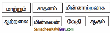 Samacheer Kalvi 6th Science Guide Term 2 Chapter 2 மின்னியல் 55
