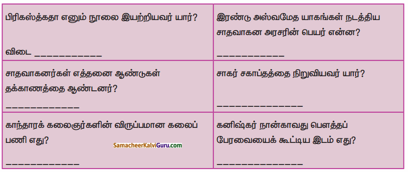 Samacheer Kalvi 6th Social Science Guide Term 3 History Chapter 2 இந்தியா – மௌரியருக்குப் பின்னர் 90