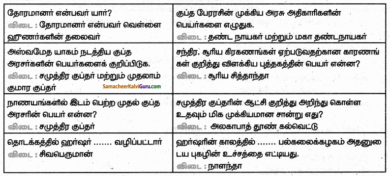 Samacheer Kalvi 6th Social Science Guide Term 3 History Chapter 3 பேரரசுகளின் காலம் குப்தர், வர்த்த னர் 41