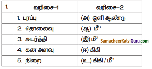 Samacheer Kalvi 7th Science Guide Term 1 Chapter 1 அளவீட்டியல் 1