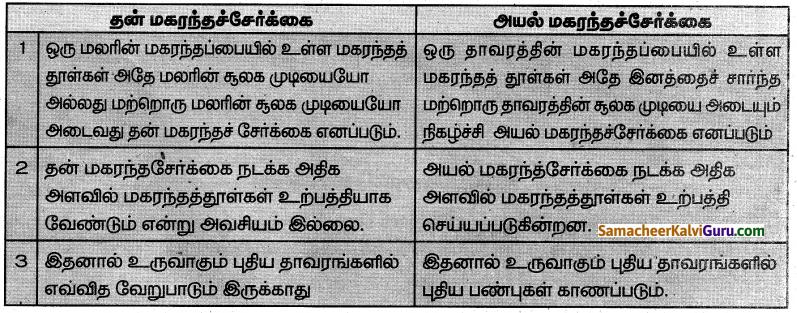 Samacheer Kalvi 7th Science Guide Term 1 Chapter 5 தாவரங்களின் இனப்பெருக்கம் மற்றும் மாற்றுருக்கள் 9
