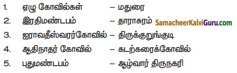 Samacheer Kalvi 7th Social Science Guide Term 3 History Chapter 2 தமிழ்நாட்டில் கலையும் கட்டடக் கலையும் 1